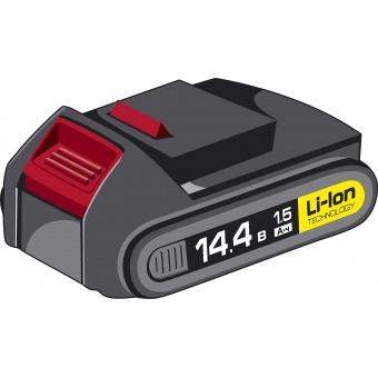 "Аккумуляторная батарея ""СУПЕРКОМПАКТ М2"", 14.4 В, Li-Ion, 1.5 Ач, ЗУБР АКБ-14.4-Ли 15М2"