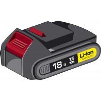 "Аккумуляторная батарея ""М2"" 18 В, Li-Ion, 1.5 Ач, ЗУБР АКБ-18-Ли 15М2"