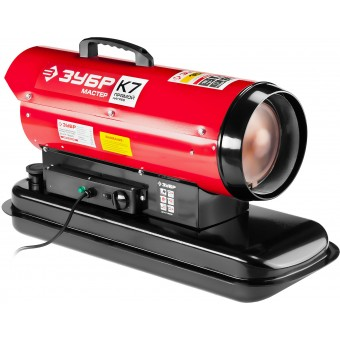 """Пушка ЗУБР """"МАСТЕР"""" дизельная тепловая, 220В, 15,0кВт, 300 м.куб/час, 18,5л, 1,3кг/ч, регулятор температуры ДП-К7-15000"""