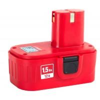 Батарея ЗУБР аккумуляторная для шуруповертов, 1,5А/ч, 12В ЗАКБ-12