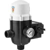 Блок автоматики ЗУБР, 1', давление срабатывания 1,5 Атм,макс мощность подключаемых насосов 1,1кВт ЗБА