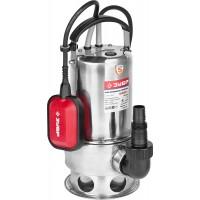 Насос ЗУБР погружной для грязной воды, корпус из нержавеющей стали, пропускная способность 200 л/мин, 550Вт ЗНПГ-550-С