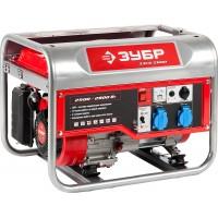 Генератор ЗУБР бензиновый, 4-х тактный, ручной пуск, 2800/2500Вт, 220/12В ЗЭСБ-2800