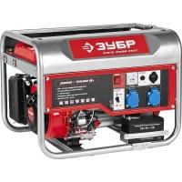Генератор ЗУБР бензиновый, 4-х тактный, ручной и электрический пуск, 220/12В, 3000/3500Вт ЗЭСБ-3500-ЭМ2