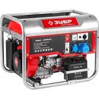 Генератор ЗУБР бензиновый, 4-х тактный, ручной и электрический пуск, автоматический пуск, 4500/4000 Вт, 220/12В ЗЭСБ-4500-ЭА