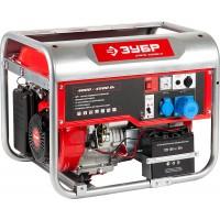 Генератор ЗУБР бензиновый, 4-х тактный, ручной и электрический пуск, 4500/4000Вт, 220/12В ЗЭСБ-4500-Э