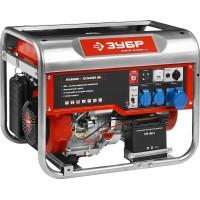 Генератор ЗУБР бензиновый, 4-х тактный, ручной и электрический пуск, автоматический пуск, 5500/5000Вт, 220/12В ЗЭСБ-5500-ЭА
