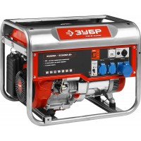 Генератор ЗУБР бензиновый, 4-х тактный, ручной пуск, 5500/5000Вт, 220/12В ЗЭСБ-5500