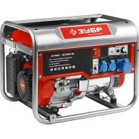 Генератор ЗУБР бензиновый, 4-х тактный, ручной пуск, 6200/5700Вт, 220/12В ЗЭСБ-6200
