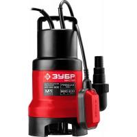"""Насос ЗУБР """"МАСТЕР"""" М1 погружной дренажный для грязной воды (d частиц до 35 мм), 900 Вт, пропускная способность 230 л/мин, напор 9,0 м, с поплавком НПГ-М1-900"""