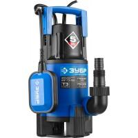 """Насос ЗУБР """"ПРОФЕССИОНАЛ"""" Т3 погружной дренажный для грязной воды (d пропуск частиц до 35мм), 750Вт, пропуск способн 230л/мин, напор 8,0м, поплавок НПГ-Т3-750"""