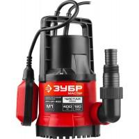 """Насос ЗУБР """"МАСТЕР"""" М1 погружной дренажный для чистой воды (диаметр частиц до 5 мм), 400 Вт, пропускная способность 120 л/мин, напор 7,0 м НПЧ-М1-400"""