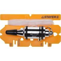 """Отвес STAYER """"PROFI"""" строительный со шнуром, с противоударными ободками, 600 г 06352-60"""