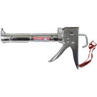 """Пистолет для герметика ЗУБР """"ПРОФЕССИОНАЛ"""" 06625, полукорпусной, хромированный, зубчатый шток, 310мл 06625"""