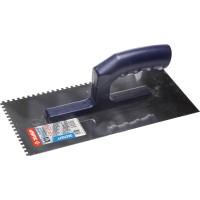 Гладилка ЗУБР нержавеющая с пластиковой ручкой, зубчатая, 4х4мм 0804-04