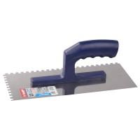 Гладилка ЗУБР нержавеющая с пластиковой ручкой, зубчатая, 6х6мм 0804-06