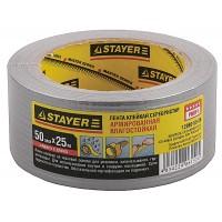 Армированная лента, STAYER 12080-50-25, универсальная, влагостойкая, 48мм х 25м, серебристая 12080-50-25