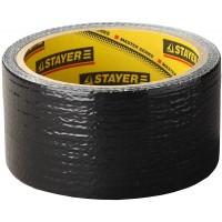 Армированная лента, STAYER Professional 12086-50-10, универсальная, влагостойкая, 48мм х 10м, черная 12086-50-10