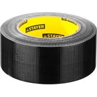 Армированная лента, STAYER Professional 12086-50-50, универсальная, влагостойкая, 48мм х 45м, черная 12086-50-50