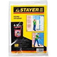 """Пленка STAYER """"STANDARD"""" защитная укрывочная, HDPE, 7 мкм, 4 х 12,5 м 1225-07-12"""