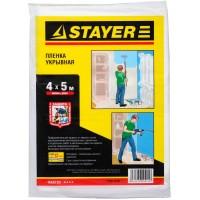"""Пленка STAYER """"MASTER"""" защитная укрывочная, HDPE, 12 мкм, 4 х 5 м 1225-15-05"""