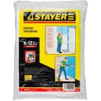 """Пленка STAYER """"MASTER"""" защитная укрывочная, HDPE, 12 мкм, 4 х 12,5 м 1225-15-12"""