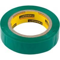 Изолента, STAYER Master 12291-G-15-10, ПВХ, 5000 В, 15мм х 10м, зеленая 12291-G-15-10