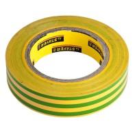 Изолента, STAYER Profi 12292-S-15-10, ПВХ, на карточке, 15 мм х 10 м х 0,18мм, желто-зеленая 12292-S-15-10