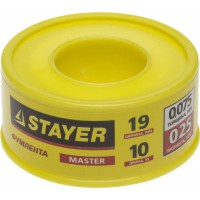 "Фумлента STAYER ""MASTER"", плотность 0,25 г/см3, 0,075ммх19ммх10м 12360-19-025"