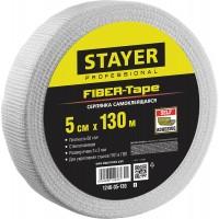 Серпянка самоклеящаяся FIBER-Tape, 5 см х 130м, STAYER Professional 1246-05-130 1246-05-130_z01
