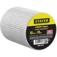 Серпянка самоклеящаяся FIBER-Tape, 10 см х 10м, STAYER Professional 1246-10-10 1246-10-10