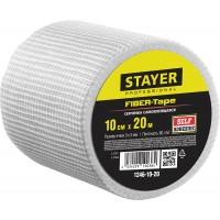 Серпянка самоклеящаяся FIBER-Tape, 10 см х 20м, STAYER Professional 1246-10-20 1246-10-20