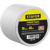 Серпянка самоклеящаяся FIBER-Tape, 10 см х 45м, STAYER Professional 1246-10-45 1246-10-45