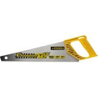 "Ножовка STAYER ""PROFI"" ""CHAMPION"", сверхбыстрый рез, прямой зуб, импульсная закалка, пластиковая ручка, 7 TPI, 400мм 15133-40_z01"