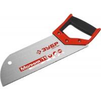 Ножовка для фанеры (пила) ЗУБР 325 мм, 11 TPI, прямой мелкий зуб, для запила внутри заготовки, импульсная закалка каждого зуба 15158-30