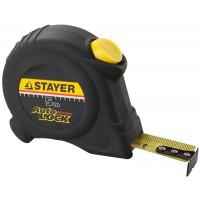 """Рулетка STAYER """"MASTER"""" """"AUTOLOCK"""", корпус с резиновым напылением, автостоп, 5мх19мм 2-34126-05-19_z01"""