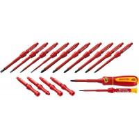 """Набор """"Х-Drive ELECTRO"""": Высоковольтные отвертки, сменные стержни, ключи специальные, до 1000В, 18 предм, KRAFTOOL 220092-H18"""