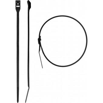 Кабельные стяжки черные КОБРА, с плоским замком, 2.5 х 110 мм, 50 шт, нейлоновые, ЗУБР 30935-25-110