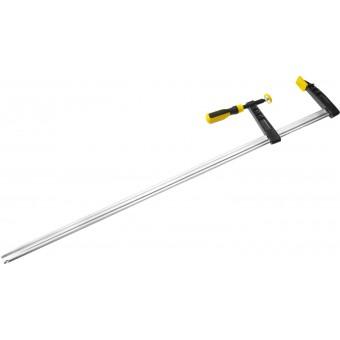 "Струбцина STAYER, тип ""F"", DIN 5117, двухкомпонентная ручка, профилированная закаленная рейка, 120х1000мм 32095-120-1000"