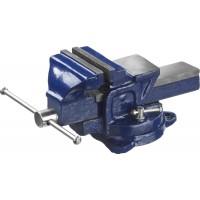 Тиски DEXX слесарные с поворотными механизмом, 100мм 32470-100