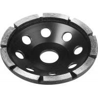 Чашка ЗУБР алмазная сегментная однорядная, высота 22,2мм, 115мм 33373-115