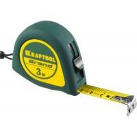 Рулетка KRAFTOOL GRAND, обрезиненный пластиковый корпус, 3м/16мм 34022-03-16