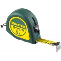 Рулетка KRAFTOOL GRAND, обрезиненный пластиковый корпус, 5м/19мм 34022-05-19
