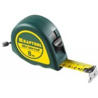 Рулетка KRAFTOOL GRAND, обрезиненный пластиковый корпус, 8м/25мм 34022-08-25