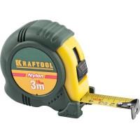 """Рулетка KRAFTOOL """"EXPERT"""" с нейлоновым покрытием, обрезин корпус, 3/19мм 34122-03-19_z01"""