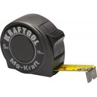 "Рулетка KRAFTOOL ""MG-Kraft"", особопроч корпус, Mg сплав, нейлон покрытие, суперкомпакт размер, 5м/19м 34129-05-19"