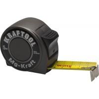 "Рулетка KRAFTOOL ""MG-Kraft"", особопроч корпус, Mg сплав, нейлон покрытие, суперкомпакт размер, 5м/25м 34129-05-25"