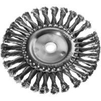 DEXX. Щетка дисковая для УШМ, жгутированная стальная проволока 0,5мм, 175ммх22мм 35100-175