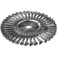 DEXX. Щетка дисковая для УШМ, жгутированная стальная проволока 0,5мм, 200ммх22мм 35100-200