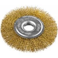 DEXX. Щетка дисковая для УШМ, витая стальная латунированная проволока 0,3мм, 125ммх22мм 35101-125